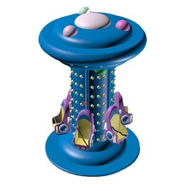 Kiddy Indoor Mini Drop Tower, Ocean Design Free Fall Ride รับประกัน 1 ปี